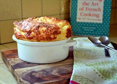 Julia Child's Cheese Souffle, by The Little Ferraro Kitchen http://littleferrarokitchen.com/2012/04/julia-childs-cheese-souffle/