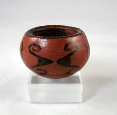 "From Barbara Johnson, daughter of Mabel Sunn, both noted potters of the Pi Posh, Maricopa Indians is this 1 1/2"" diameter pinch pot."