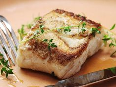 Halibut aren't terribly fun to fish (think: reeli thick steak—well-browned and -crusted on the outside, with a juicy, tender center. And, just like with a steak, cooking sous vide can help you nail that medium-rare center every time. Fish Recipes, Seafood Recipes, Cooking Recipes, Cooking Fish, Cooking Turkey, Best Halibut Recipes, Cooking Pasta, Cooking Bacon, Cooking Games