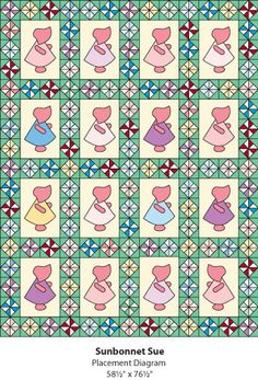 Free Sunbonnet Sue quilt pattern download from the Quilter's World newsletter. Subscribe to this free newsletter: www.AnniesNewsletters.com. Download the pattern: http://www.quiltersworld.com/newsletters.php?mode=article&article_id=2717&key=QQQN