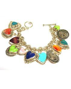 Joan Slifka Heart Charm Bracelet