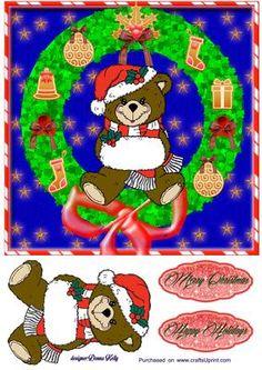 teddy Christmas on Craftsuprint - Add To Basket!