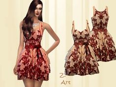The Sims Resource: Vintage Charm dress by Zuckerschnute20 • Sims 4 Downloads