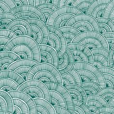 Swirls Green Art Print