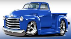 Chevy Pickup Trucks, Chevy Pickups, Old Trucks, Cool Car Drawings, Truck Coloring Pages, Truck Art, Car Illustration, Car Posters, Automotive Art