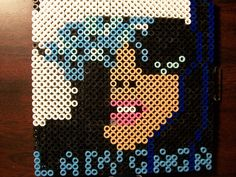"""Lady Gaga's """"The Fame"""" album artwork. Time to make: 2 hours Highest amount of beads used at 841"""