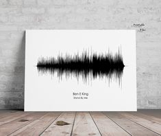 Soundwave Art, Stand By Me - Ben E King, Sound Wave Poster, Printable files, Instant Download, Print me , Sound Wave  Print Led Zeppelin Concert, Music Artwork, Art Music, Ain't No Sunshine, Art Stand, Greys Anatomy Memes, Wave Art, Stairway To Heaven