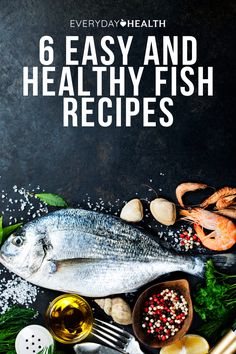 """There are plenty of ways to create quick, healthy fish dinners right at home. Here are six easy recipes to make your family's next few """"Fish Fridays"""" a success. Healthy Salmon Recipes, Easy Fish Recipes, Healthy Foods, Easy Meals, Healthy Waffles, Fish Dinner, Baked Salmon, Tasty Dishes, Food To Make"""