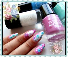 Betty Nails: V-day Nailart #5 - Purple Professional - Hearts and Flowers
