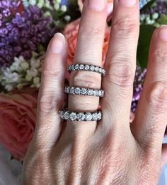 Diamond eternity bands 💥💎 my everyday favourite! Eternity Ring Diamond, Eternity Bands, Wedding Bands, Rings For Men, Silver Rings, Jewels, Engagement, Tiffany, Instagram