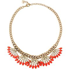 Stella & Dot Coral Cay Necklace ($62) ❤ liked on Polyvore featuring jewelry, necklaces, stella & dot, stella dot necklace, statement necklace, bib statement necklace and coral jewelry