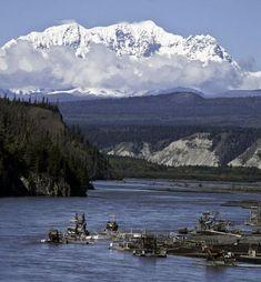 Copper River Fish Wheels, Alaska #travel