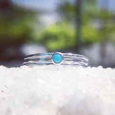 Sterling silver cabochon ring in #turquoise. I added some extra stacking rings for good measure. Available on my website www.sundarajewelry.com . . . . #Sundara #sundarajewelry  #forher #artisanjewelry #jewelry #artjewelry #customjewelry #uniquejewelry  #stacking rings #cabochon #handmadejewelry #handmade #abstract #rings #gemstones #sterlingsilver #semipreciousgemstone #caribbean #trinidad #buylocal #t&t