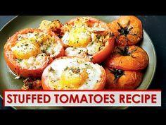 YouTube Quiche Recipes, Brunch Recipes, Breakfast Recipes, Fun Recipes, Recipe Ideas, Food To Go, Good Food, Yummy Food, Stuffed Tomatoes