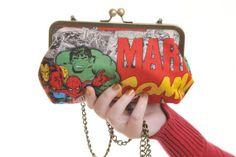 Marvel Avengers Superhero Comic Day Handbag and by LucysDesigns, £25.00