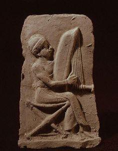 Isin-Larsa Terracotta Bas-Relief of a Harpist (ca.2000-1700 B.C.)