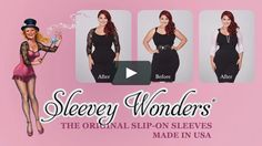 Sleevey Wonders are reversible slip-on sleeves made to wear UNDER all your sleeveless & strapless tops and dresses, magically transforming your outfit into something…