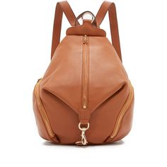 Rebecca Minkoff Julian Backpack (327 AUD) ❤ liked on Polyvore featuring bags, backpacks, almond, pocket backpack, rebecca minkoff backpack, brown backpack, day pack backpack and leather bags