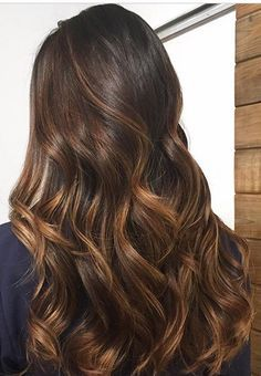 Brunette with caramel bayalage