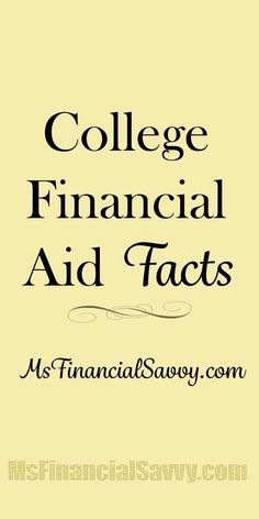 College Financial Aid Facts #FinanceStudent