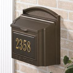Wall Mounted Locking Mailbox (French Bronze) with Mailbox Number Plaque Whitehall http://www.amazon.com/dp/B00JOOEWLG/ref=cm_sw_r_pi_dp_zjMOvb1DP6E3W