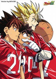 Tags: Anime, Eyeshield 21, Hiruma Yoichi, Raimon Taro, Ryokan Kurita, Kobayakawa Sena Manga Comics, Anime Shows, Archetypes, Studio Ghibli, Anime Love, Anime Manga, Anime Characters, 21st, Fan Art
