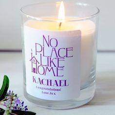 No Place Like Home #housewarming #newhomegifts #candle #thepersonalisedgiftshop £14.99
