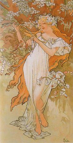 Alphonse Mucha Spring (from the Seasons series) 1896