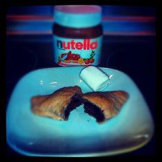 Mini folhados de Nutella...o tal vício...