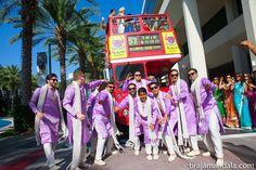 Talk about making an entrance!  shaadishop.co PC: Braja Mandala Wedding Photography