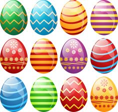 """Photo from album """"Пасха"""" on Yandex. Bubble Gum Machine, Egg Vector, Cute Easter Bunny, Coloring Easter Eggs, Easter Printables, Easter Activities, Easter Party, Egg Decorating, Easter Eggs"""