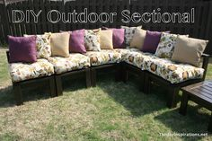 diy patio furniture | The 36th AVENUE | DIY Outdoor Sectional
