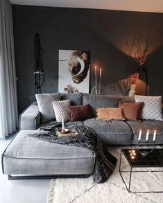 21 grey small living room apartment designs to look&; 21 grey small living room apartment designs to look&; Ramona Rockabella Home 21 grey small living room apartment designs […] living room Living Room Decor Modern, Small Apartment Living Room, Boho Living Room, Farm House Living Room, Cozy Living Rooms, Home Furniture, Living Decor, House Interior, Room Design