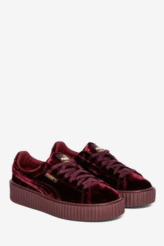 Puma x Rihanna Rebel Velvet Creeper Sneaker - Royal - Shoes  ec8191b46