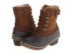 SOREL - Winter Fancy Lace II (Elk/Grizzly Bear) Women's Boots