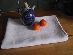 Vintage French linen Table cloth or throw by WhiteLinenplus, €20.00