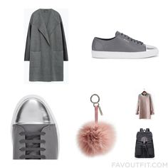 Wardrobe Things With Zara Coat Silver Sneakers Axel Arigato Sneakers And Fendi From February 2016 #outfit #look