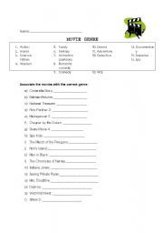 Worksheets Worksheets For Movies worksheets english and movies on pinterest worksheet movie genres worksheet