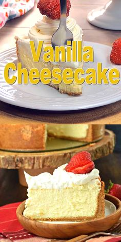 Wedding Cake Recipes 417216352979198577 - If you're hoping to make the PERFECT VANILLA CHEESECAKE recipe, start with my basic tips and tricks! Creamy, light, and delicious! Dessert Oreo, Bon Dessert, Food Cakes, Mini Cakes, Cupcake Cakes, Cheesecake Recipes, Dessert Recipes, Make Cheesecake, Vanilla Cheesecake Recipe