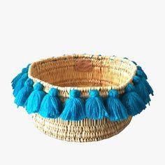 Severine Turquoise Tassel Basket from Dear Keaton