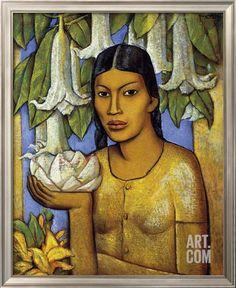 La India de las Floripondias Giclee Print by Alfredo Ramos Martinez at Art.com