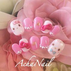 color tip nails Nail Art Designs Videos, Gel Nail Designs, Cute Nails, Pretty Nails, Garra, Kawaii Nail Art, Hello Kitty Nails, Korean Nails, Colorful Nail Designs