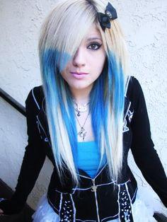 Crazy blonde emo teen valuable