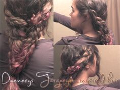 Games Of Thrones: Daenerys Targaryen Khaleesi hair braid tutorial!