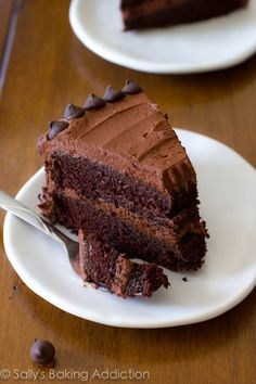 Triple Chocolate Layer Cake. The fudgiest homemade chocolate cake ever! sallysbakingaddiction.com