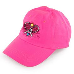 Super cute LoveAll Women's Crossed Racquets Tennis Cap Pink for the tennis addicts! #giftidea #tennishat