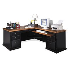 "Home Office L Shaped Desk the ""sawyer"" l-shaped desk - reclaimed wood & steel - industrial"