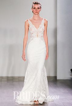 Brides.com: Fall 2016 Wedding Dress Trends Sheer SilhouettesTaking a page from the red carpet, designers like Inbal Dror and Theia presented some barely-there designs, with both fully see-through silhouettes and peekaboo moments leaving little to the imagination.   Wedding dress by Alon Livne WhitePhoto: Gerardo Somoza / Indigitalimages.com