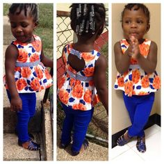 11 Adorable Trendy Wears For Kids African Inspired Fashion, Africa Fashion, African Fashion Dresses, Cute Kids Fashion, Baby Girl Fashion, African Attire, African Wear, African Children, Jumpsuits For Girls