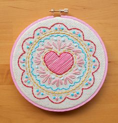 https://flic.kr/p/9j3Xj8 | Love in the Middle - Free Pattern | I made a sweet little embroidery pattern, because I'm obsessed with doilies and it seems it's carrying over into all of my other crafty endeavors! lol. I stitched this one from embroidery floss for Valentine's day, but it'll be up in my workspace year-round!  You can download the free pattern right here: michelleclement.typepad.com/LoveInTheMiddle_pattern.pdf  (for personal use only!)  Blogged…
